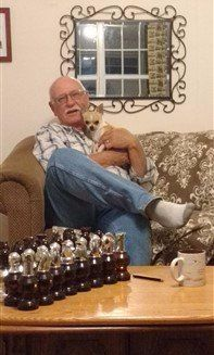 Owner with his Chihuahua