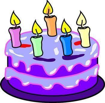birthday cake icon- illustrated