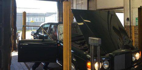 open car bonnet