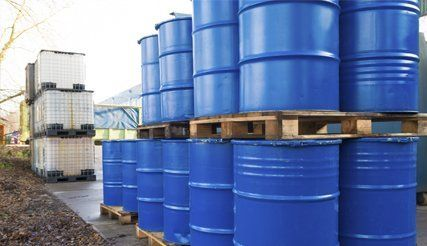 oil tanks stacked outdoor