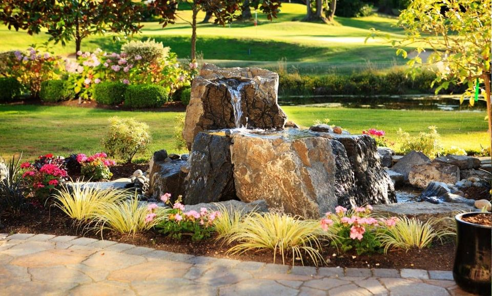 water feature natural rock