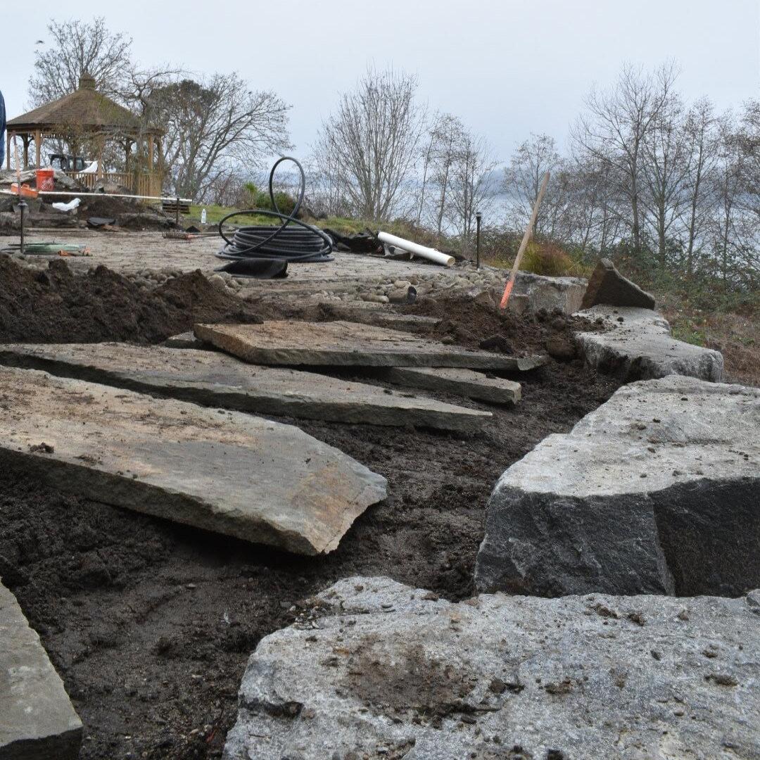 Alderwood Landscaping site construction