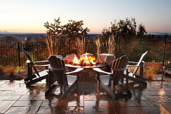 backyard firepit yard resort