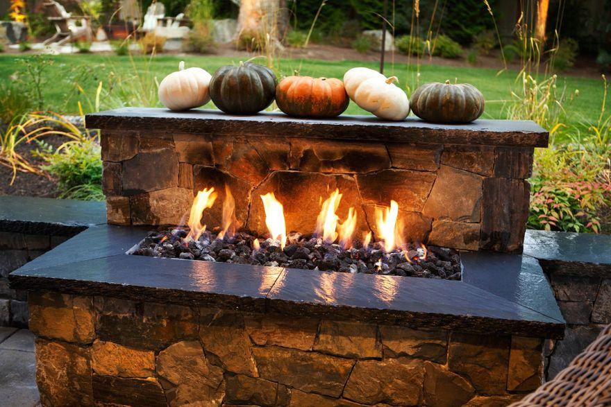 outdoor firepit fall