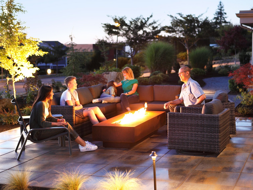 outdoor living with fire pit