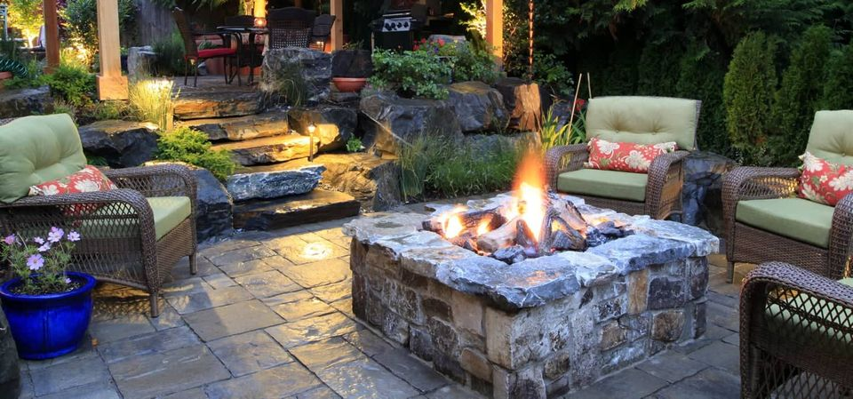 outdoor fireplace and outdoor structure retreat