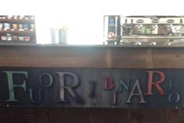 Bancone del bar Fuoribinario a Parabiago