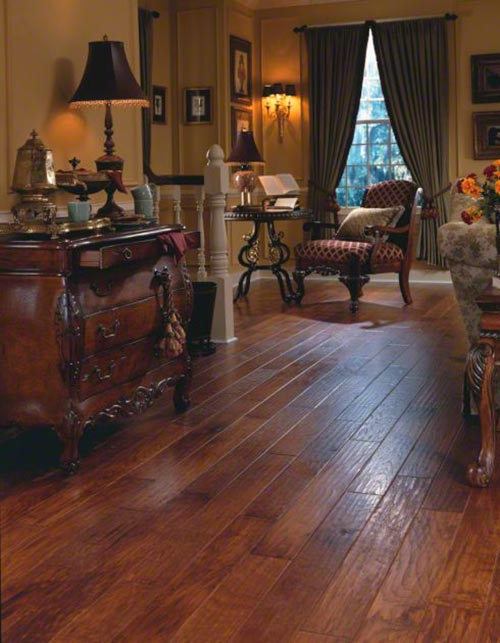 View of the hardwood flooring done by professional inChesterfield, MO