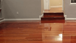 View of the wooden flooring repaired by professional in Chesterfield, MO