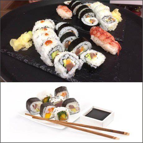 Cartello doppio da sushi e i suoi multiples varietà