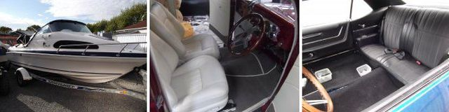 reupholstered automotive interiors and exteriors