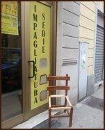 impagliatura sedia legno