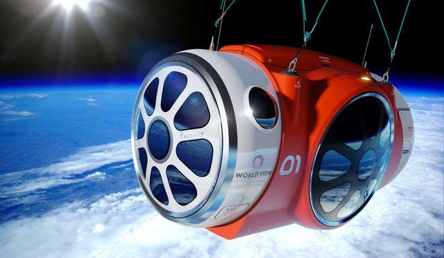 Al espacio... ¡en globo!