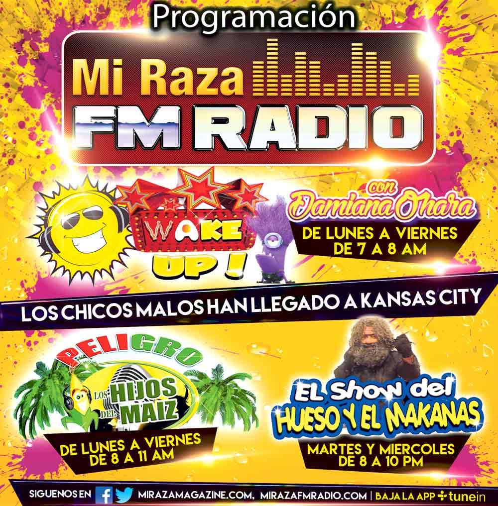 Programación Mi Raza Radio FM
