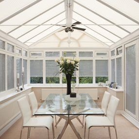 Conservatory Roman blinds