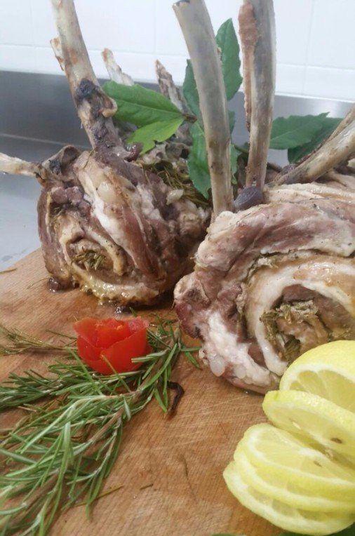 hamburgher di carne e spinaci