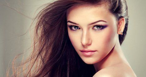 female model staring to camera