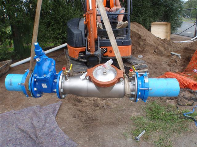 Backflow on a commercial site