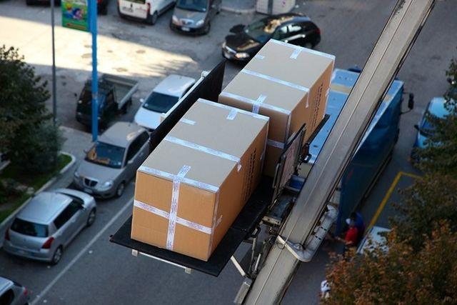 scatole di scuro traslochi