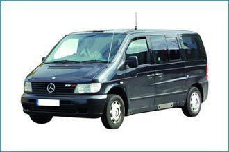 black mercedes minibus