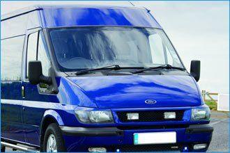 Blue Minibus