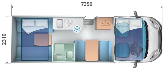 auto roller 746 automatic motorhome for hire layout