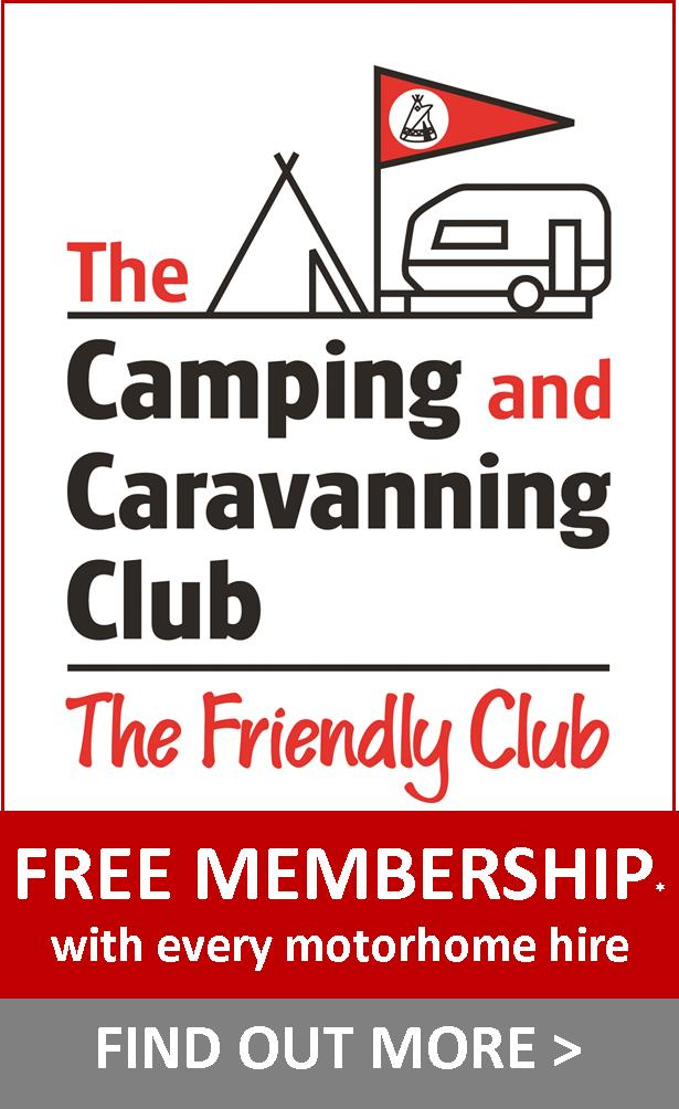 motorhome hire with camping anf caravanning membership