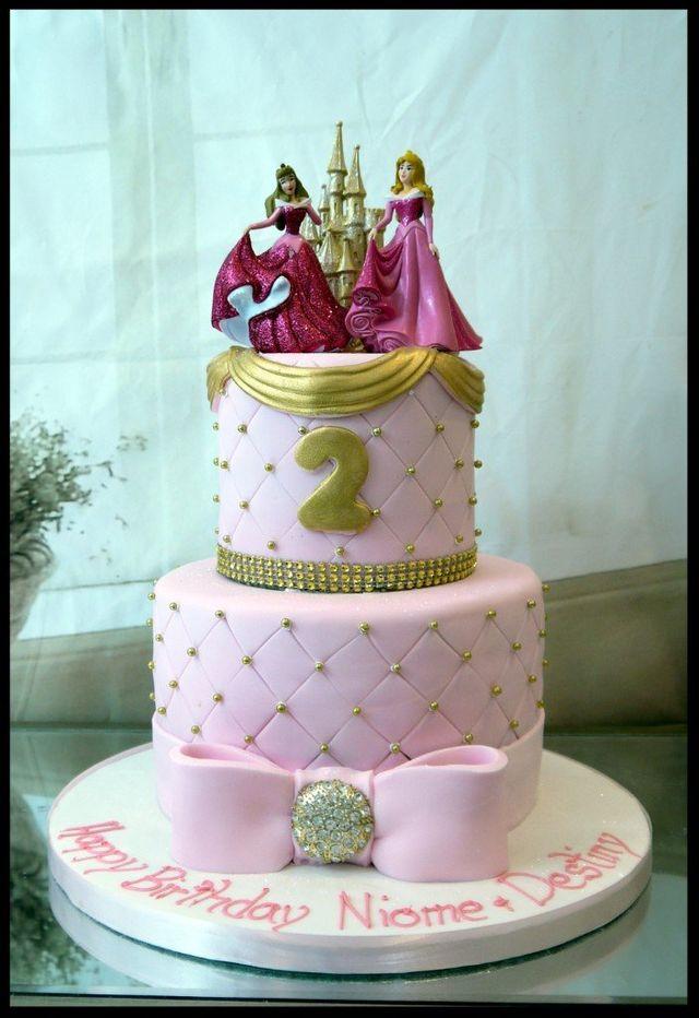 2 Tier Disney Princess Cake 3D Mr Tumble