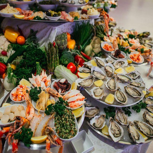 Piatti di pesce per gli eventi ad Osteria del Pesce Fresco a Pieve A Nievole