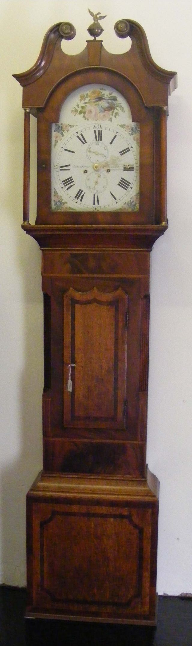 Painted dial longcase clock dereham norfolk clock fixed on a light brown wooden case amipublicfo Image collections