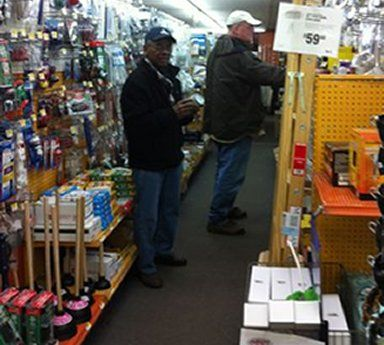 Plumbing Aisle in our hardware store in Rochester, NY