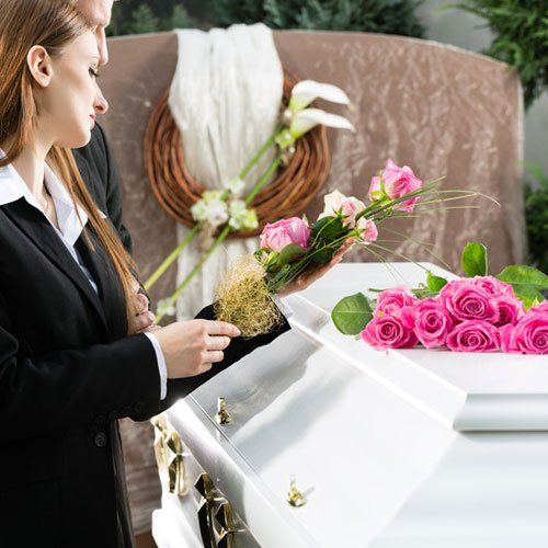 lady grieving