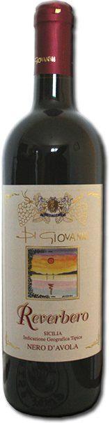 Una bottiglia di vino Nero D'avola