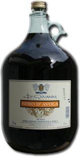 Una damigiana di vino Nero D'avola