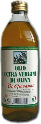 Un bottiglia di olio di oliva extra vergine Di Giovanni