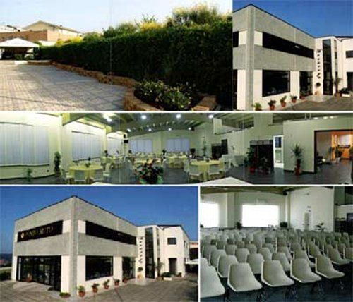 collage di foto della struttura per ricevimenti