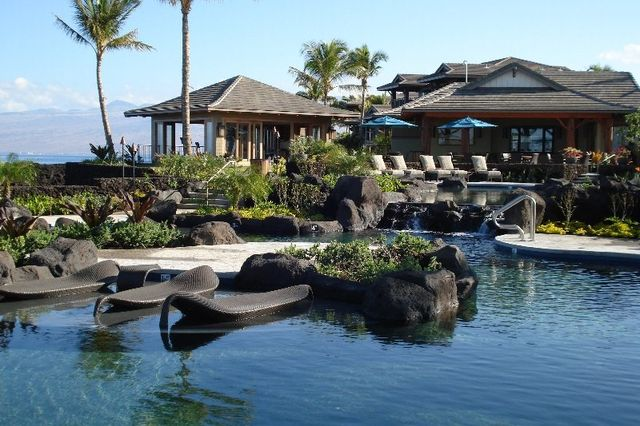 beautiful exclusive pools at a resort in Hawaii