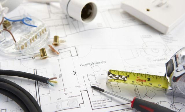 Equipment and blueprint for electrical panels in Augusta, WI