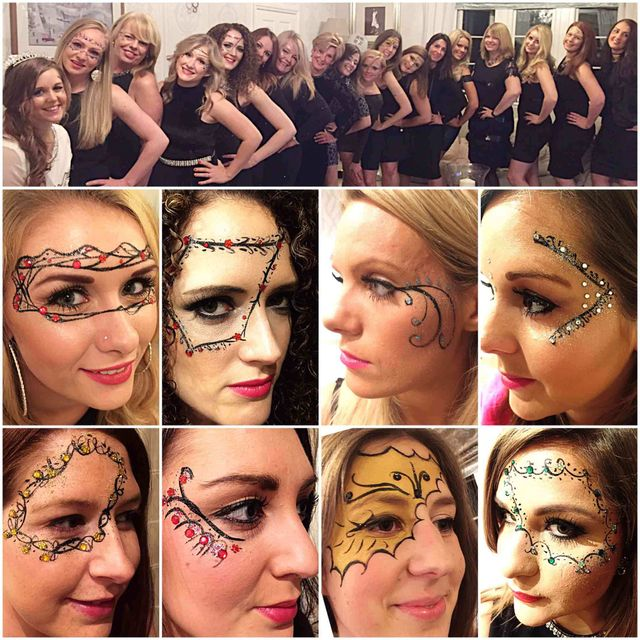 Face Art Fancy Dress Face Painting for a Hen Party In Bath