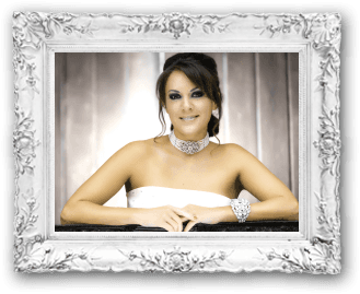 Jackie Jax Glam Beauty Wedding Bride Hair Makeup Glamorous Smokey Eye