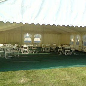 tents with white furniture