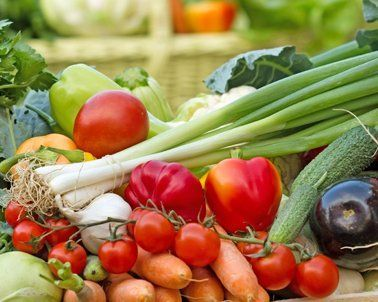View of healthy vegetables