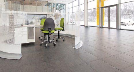 tiled flooring in office