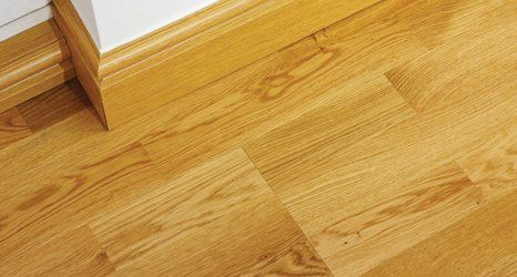 wooden flooring and skirting