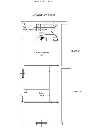 progetto pianta piano Primo- interno 5