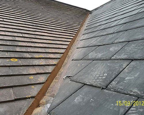 dark coloured roof tiles