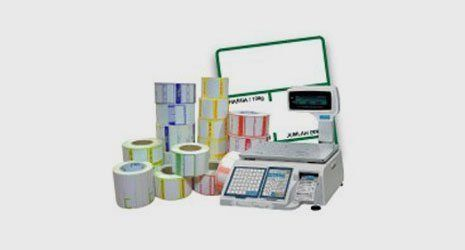 label rolls and a label printing machine