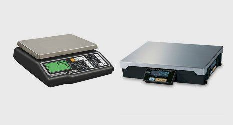 retail scales with built-in label printer