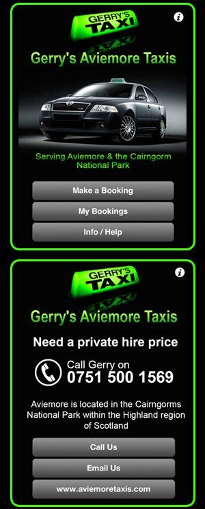 App for booking taxi