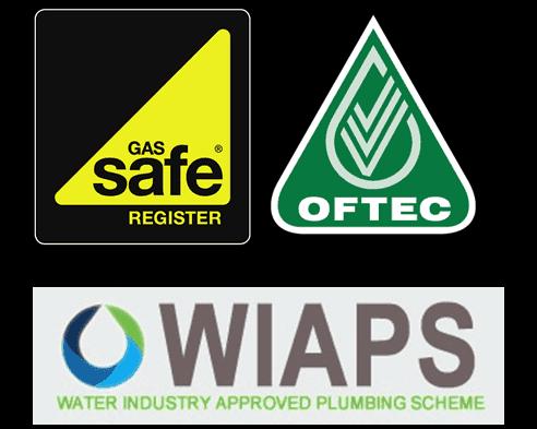 GasSafe OFTEC WIAPS logos